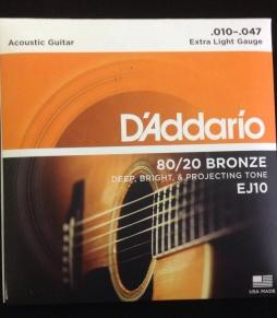 Dây Đàn Guitar Acoustic Daddario EJ10